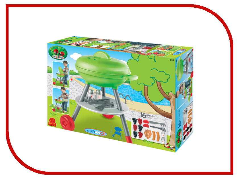 Игра Ecoiffier Набор для барбекю 334 игровые наборы ecoiffier игровой набор вафельница 22 предмета