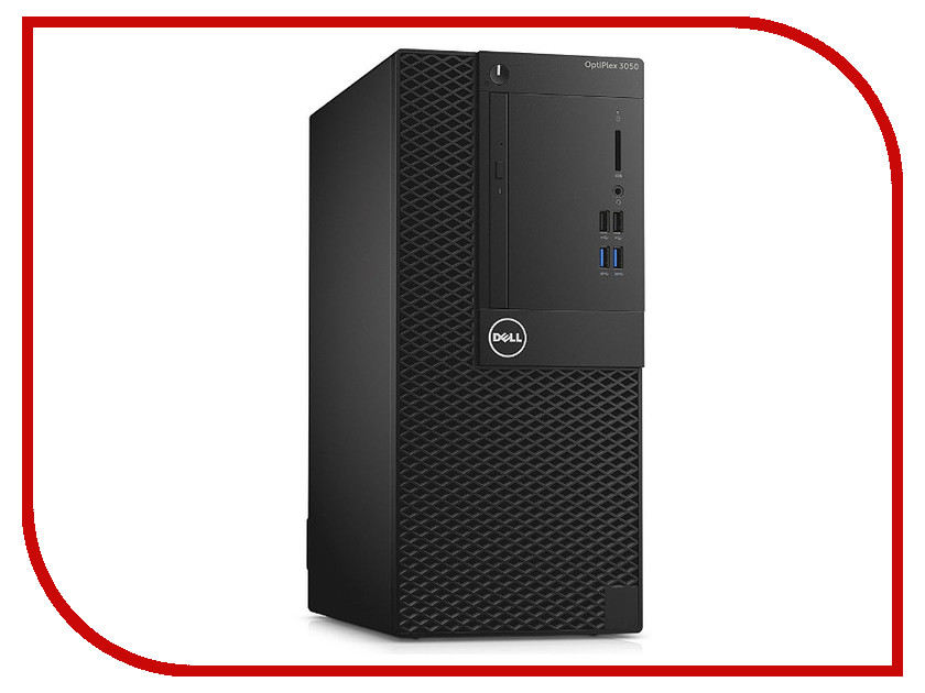 Настольный компьютер Dell OptiPlex 3050 MT 3050-0351 (Intel Core i3-7100 3.9 GHz/4096Mb/500Gb/DVD-RW/Intel HD Graphics/LAN/Windows 10 64-bit) настольный компьютер hp prodesk 400 g4 small form factor 1ey30ea intel core i3 7100 3 9 ghz 4096mb 500gb dvd rw intel hd graphics 630 gbiteth windows 10 professional 64 bit