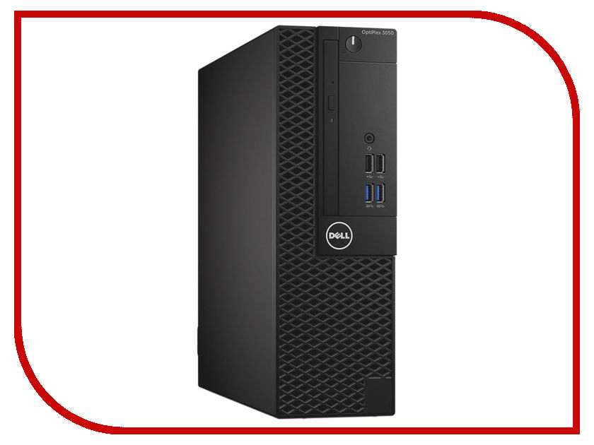 Настольный компьютер Dell OptiPlex 3050 SFF 3050-0405 (Intel Core i3-6100 3.7 GHz/4096Mb/500Gb/DVD-RW/Intel HD Graphics/LAN/Linux) адаптер dell intel ethernet i350 1gb 4p 540 bbhf