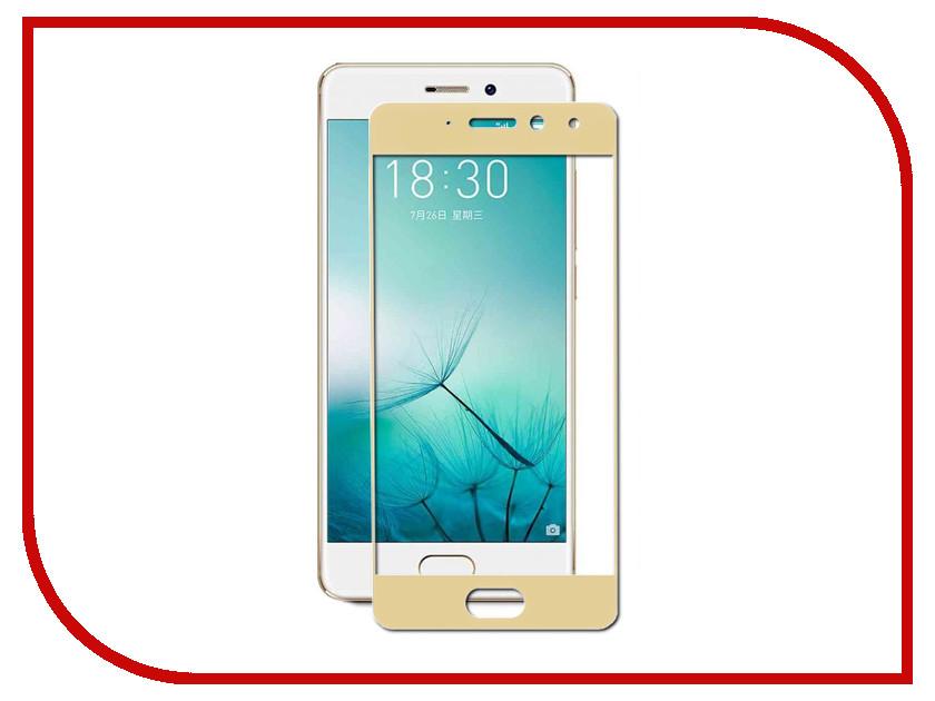 Аксессуар Защитное стекло Meizu Pro 7 Zibelino TG Full Screen 0.33mm 2.5D Gold ZTG-FS-MEI-PRO7-GLD аксессуар защитное стекло meizu pro 7 pero prsg pro7