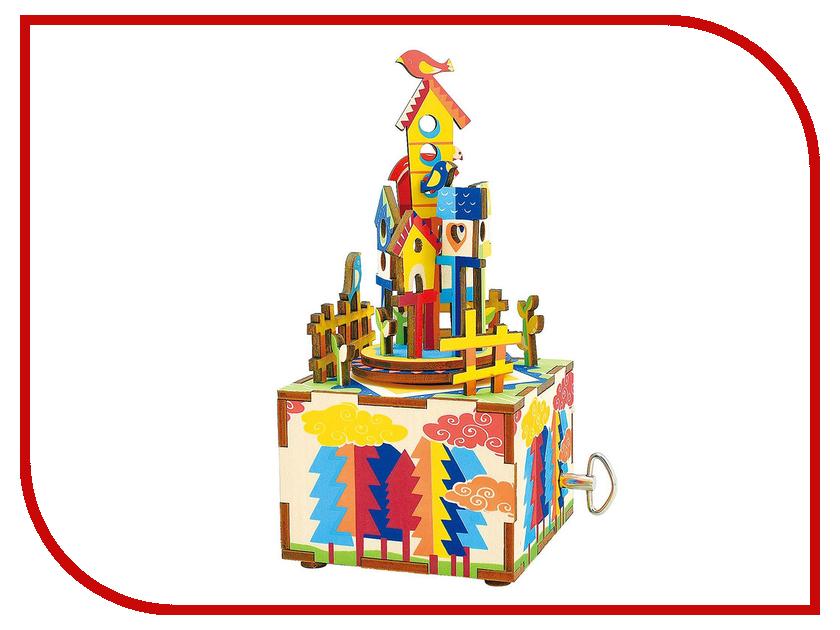 конструкторы robotime часы конструктор деревянные ослик раскраска Конструктор Robotime Музыкальная шкатулка 3D Castle In The Sky 32 дет. AM307