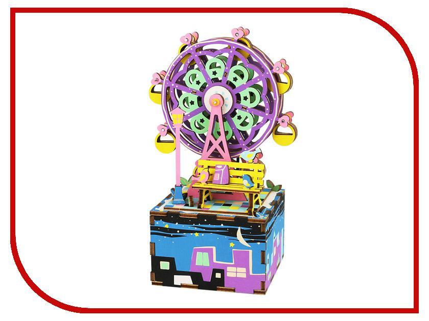 конструкторы robotime часы конструктор деревянные пингвин раскраска Конструктор Robotime Музыкальная шкатулка 3D Ferris Wheel 69 дет. AM402