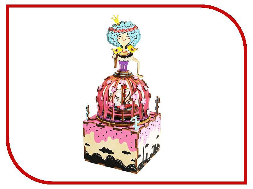 конструкторы robotime часы конструктор деревянные ослик раскраска Конструктор Robotime Музыкальная шкатулка 3D Princess 118 дет. AM405