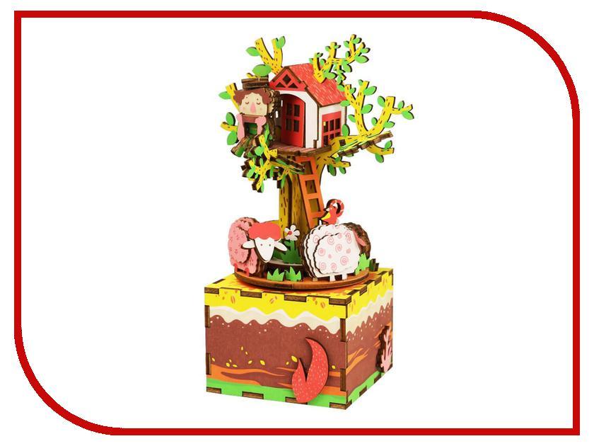 Конструктор Robotime Музыкальная шкатулка 3D Tree House 98 дет. AM408 leifheit насадка для швабры claro micro duo w v1fjl6