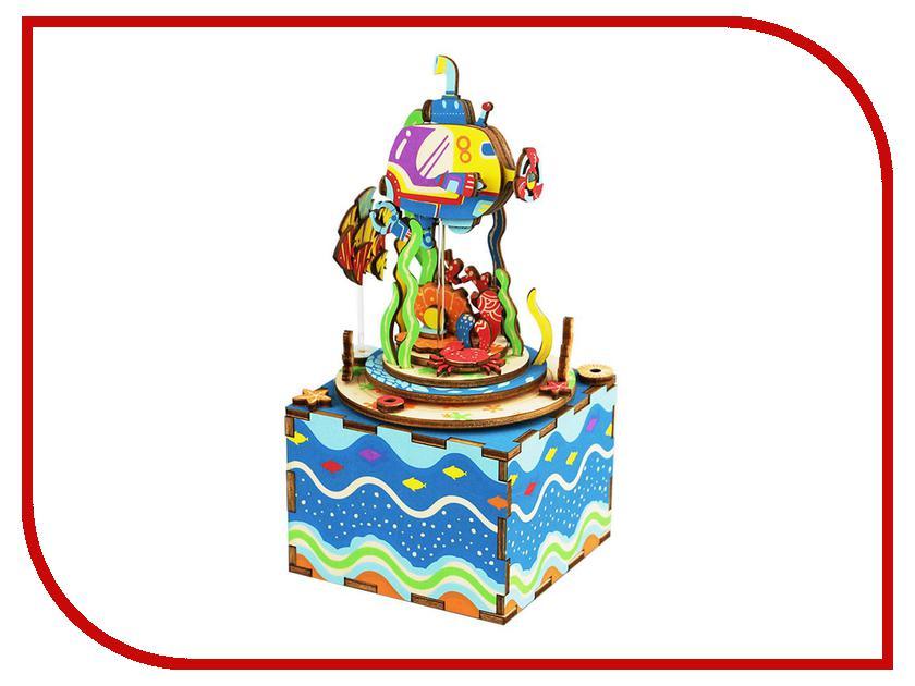 Конструктор Robotime Музыкальная шкатулка 3D Under The Sea 81 дет. AM406 verne j verne 20 000 leagues under the sea