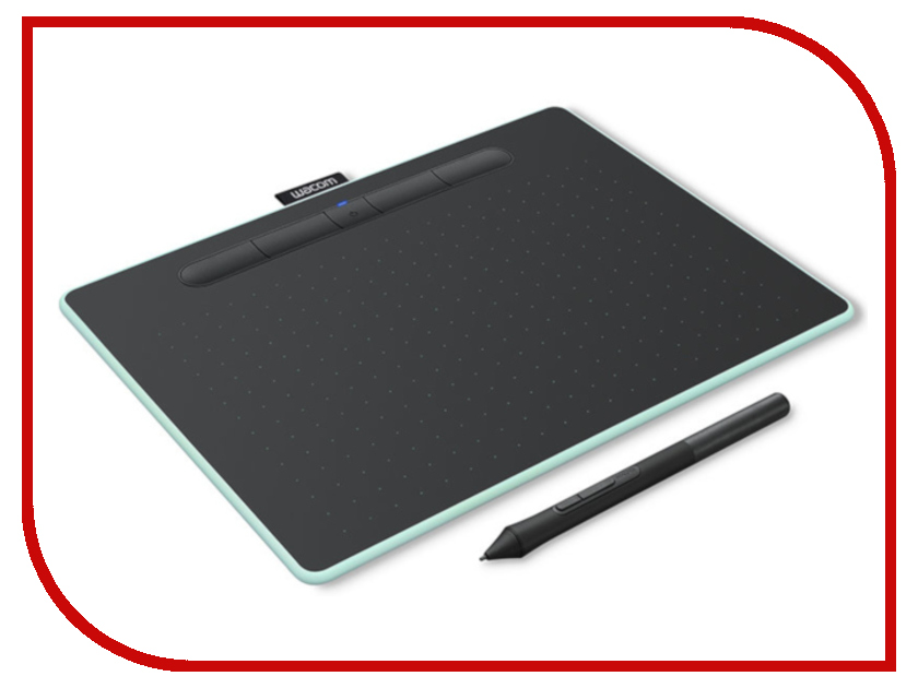 Графический планшет Wacom Intuos M Bluetooth Pistachio CTL-6100WLE-N графический планшет wacom intuos art creative pen and touch tablet m cth 690ck n black