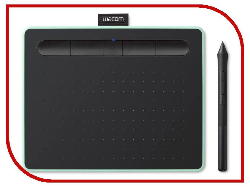Графический планшет Wacom Intuos S Bluetooth Pistachio CTL-4100WLE-N графический планшет wacom intuos art creative pen and touch tablet m cth 690ck n black