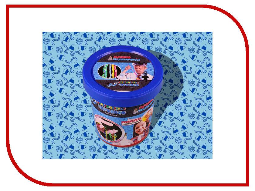 Игра Bumbaram Юный Химик Делаем цветных червяков Blue Х046 игра bumbaram электролиз x027
