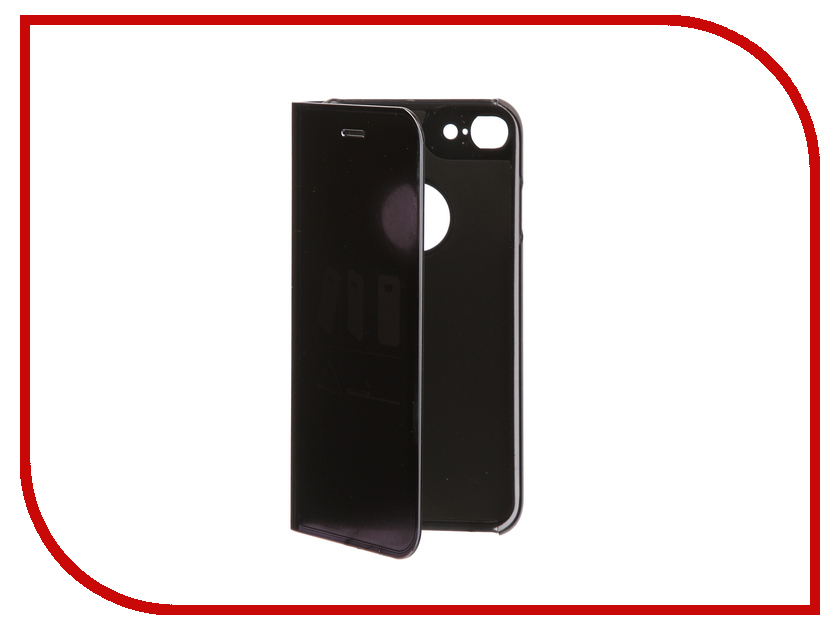 Фото Аксессуар Чехол Zibelino Clear View для Apple iPhone 7 / 8 Black ZCV-APL-7-BLK аксессуар чехол zibelino clear view для apple iphone 7 8 plus blue zcv apl 7pl blu