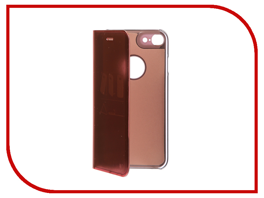 Фото Аксессуар Чехол Zibelino Clear View для Apple iPhone 7 / 8 Gold Pink ZCV-APL-7-GPNK аксессуар чехол zibelino clear view для apple iphone 7 8 plus blue zcv apl 7pl blu