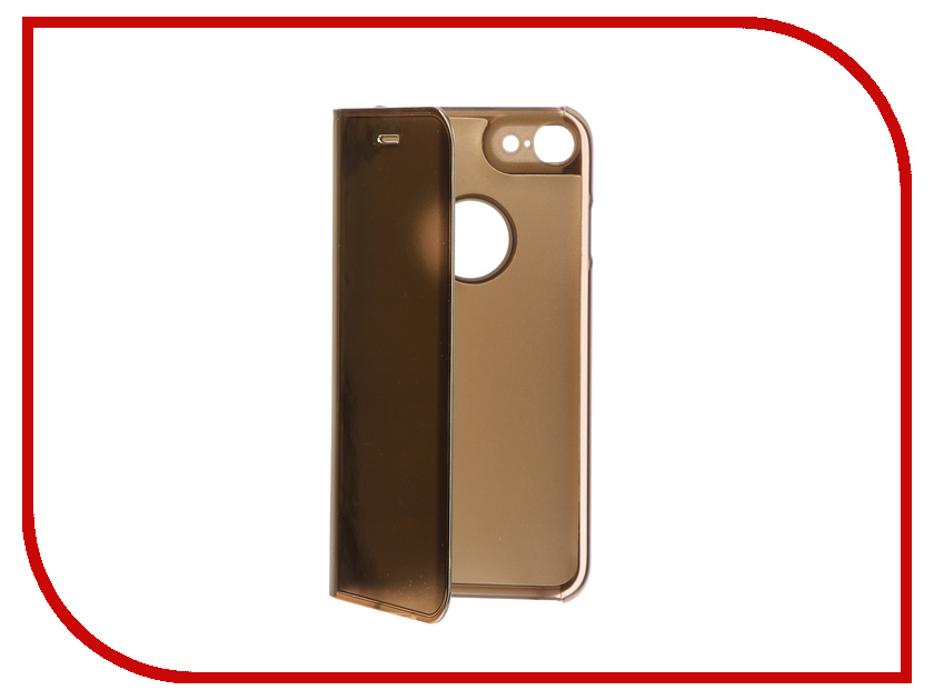 Фото Аксессуар Чехол Zibelino Clear View для Apple iPhone 7 / 8 Gold ZCV-APL-7-GOLD аксессуар чехол zibelino clear view для apple iphone 7 8 plus blue zcv apl 7pl blu