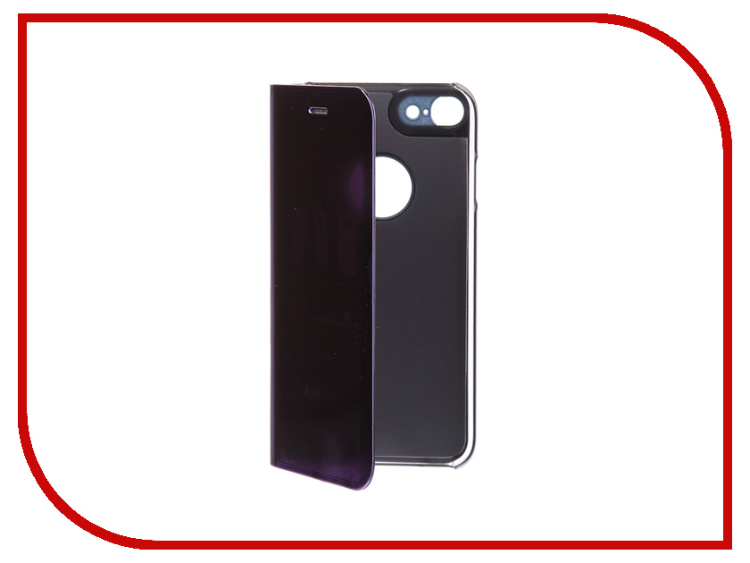 Фото Аксессуар Чехол Zibelino Clear View для Apple iPhone 7 / 8 Purple ZCV-APL-7-PUR аксессуар чехол zibelino clear view для apple iphone 7 8 plus blue zcv apl 7pl blu
