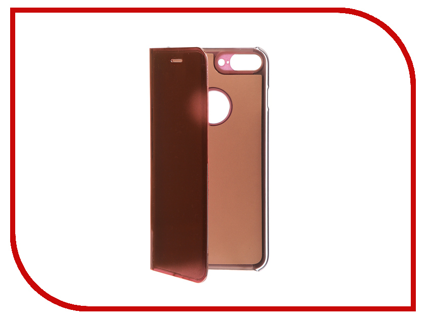Фото Аксессуар Чехол Zibelino Clear View для Apple iPhone 7 / 8 Plus Gold Pink ZCV-APL-7PL-GPNK аксессуар чехол zibelino clear view для apple iphone 7 8 plus blue zcv apl 7pl blu