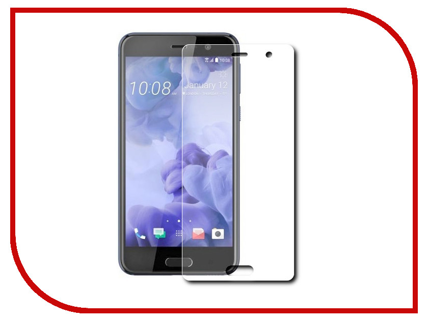 Аксессуар Защитная пленка HTC U Play LuxCase суперпрозрачная на весь экран 53148 защитная плёнка для htc desire 616 суперпрозрачная luxcase