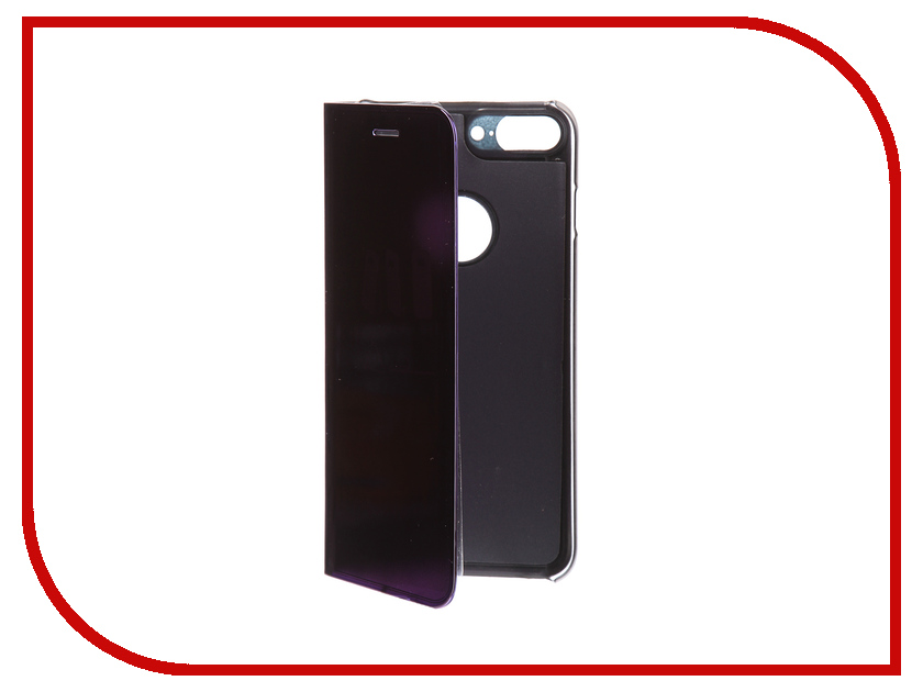 Аксессуар Чехол Zibelino Clear View для Apple iPhone 7 / 8 Plus Purple ZCV-APL-7PL-PUR аксессуар чехол samsung j5 2017 j530f zibelino clear view gold pink zcv sam j530 pgld