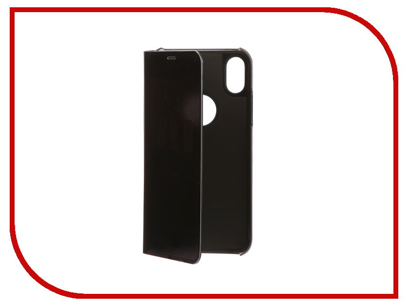 Фото Аксессуар Чехол Zibelino Clear View для Apple iPhone X Black ZCV-APL-X-BLK аксессуар чехол zibelino clear view для apple iphone 7 8 plus blue zcv apl 7pl blu