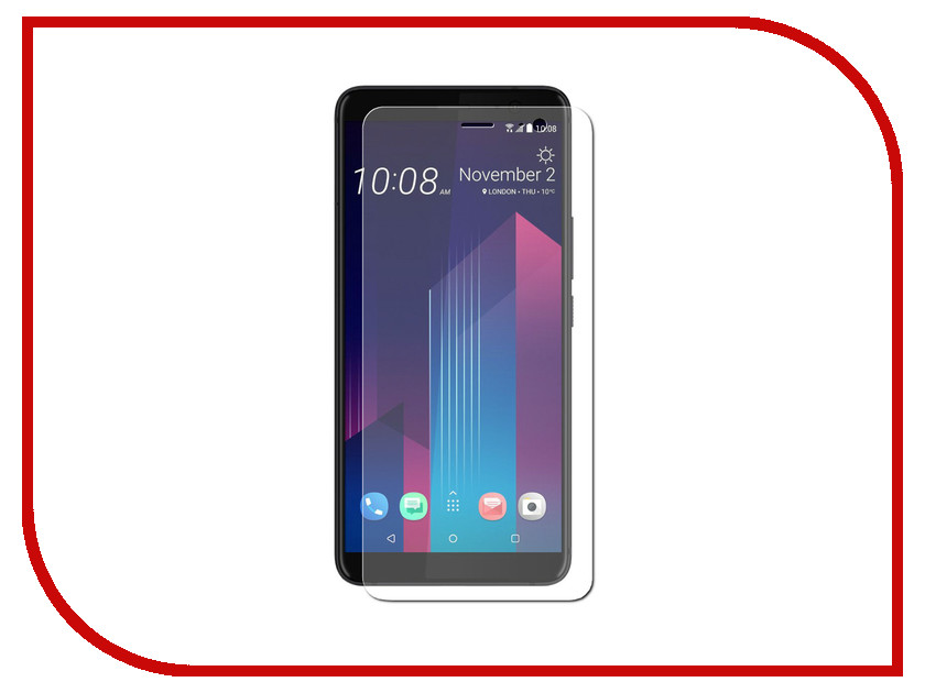 Аксессуар Защитная пленка HTC U11 Plus LuxCase прозрачная на весь экран 88989 защитная пленка luxcase sp tpu для apple iphone 7 plus 8 plus на весь экран глянцевая