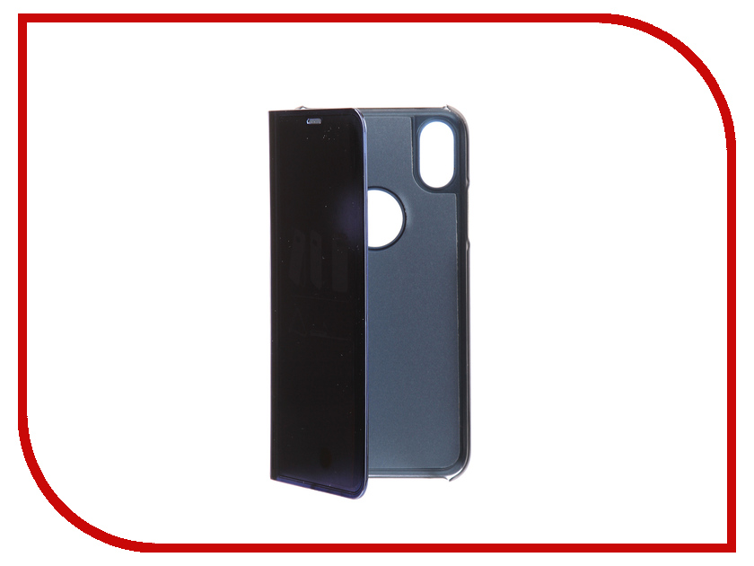 Аксессуар Чехол Zibelino Clear View для Apple iPhone X Blue ZCV-APL-X-BLU аксессуар чехол elari для elari cardphone и iphone 6 plus blue