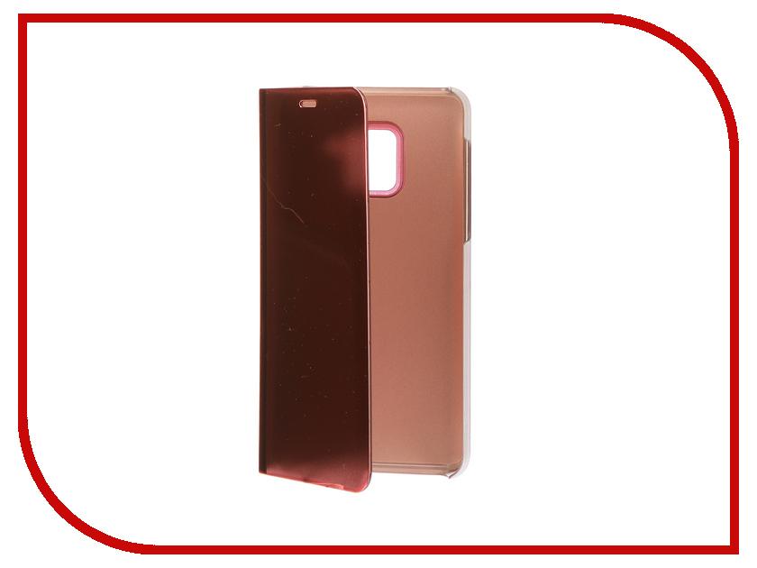 Фото Аксессуар Чехол Samsung A8 2018 A530 Zibelino Clear View Gold Pink ZCV-SAM-A530-PGLD аксессуар чехол samsung j3 2017 j330f zibelino clear view black zcv sam j330 blk