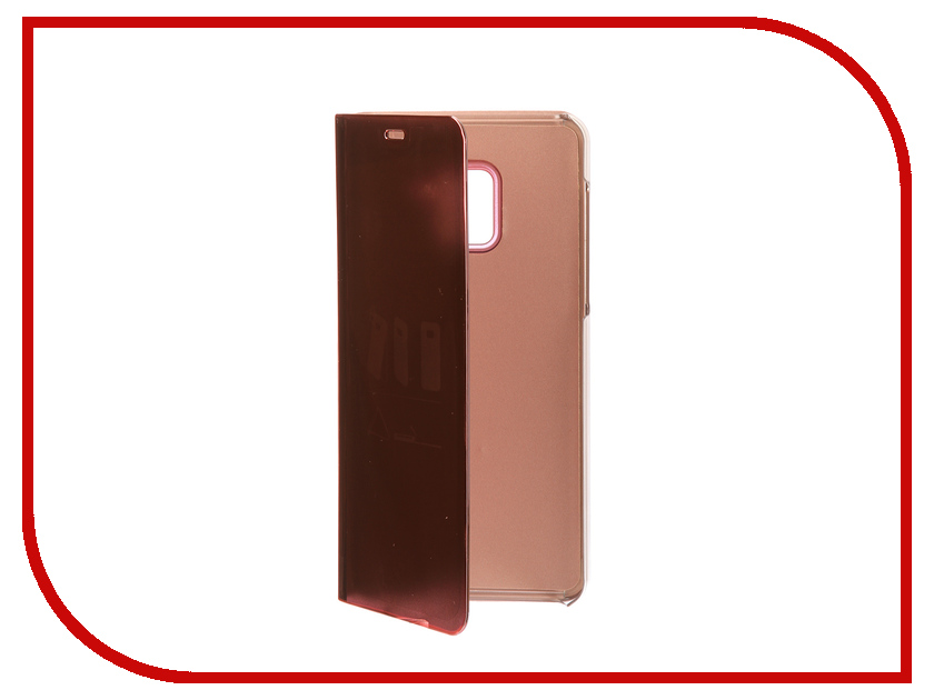 Аксессуар Чехол Samsung A8 Plus 2018 A730 Zibelino Clear View Gold Pink ZCV-SAM-A730-PGLD аксессуар чехол huawei nova zibelino classico black zcl hua nov blk