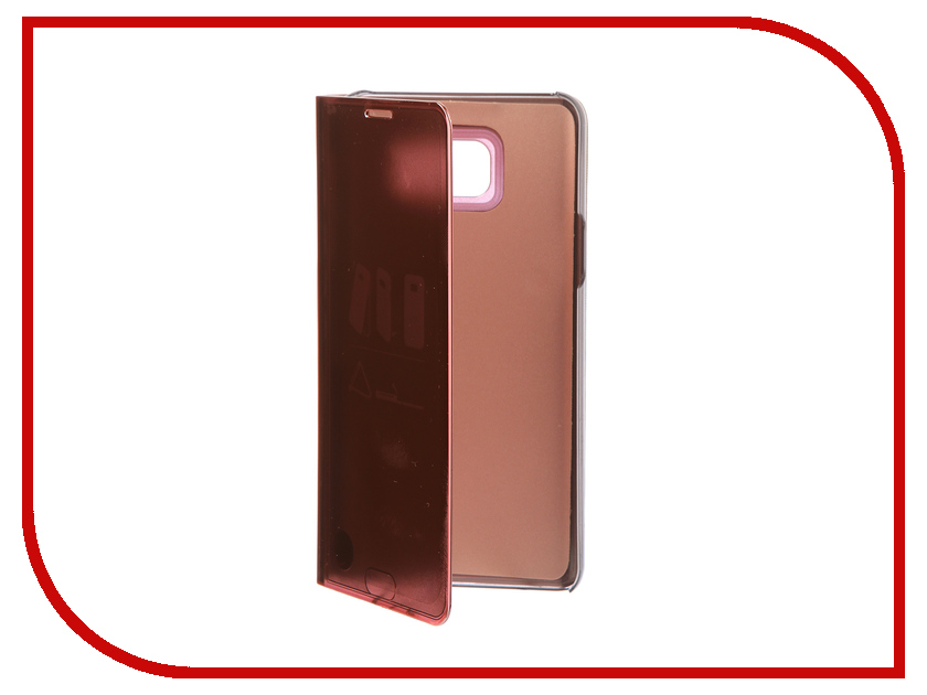 Аксессуар Чехол для Samsung Galaxy Note 5 Zibelino Clear View Gold Pink ZCV-SAM-NOT-5-GPNK free shipping 10pcs frontglass lens for samsung note 5 n920 5 7 for phone replacement