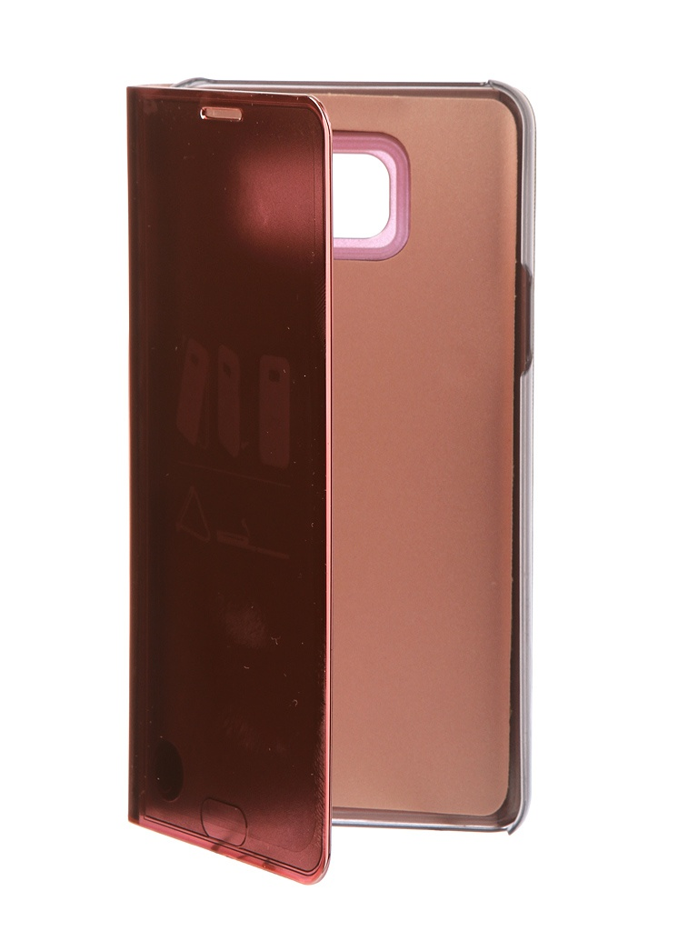 Аксессуар Чехол Zibelino для Samsung Galaxy Note 5 Clear View Gold Pink ZCV-SAM-NOT-5-GPNK стоимость