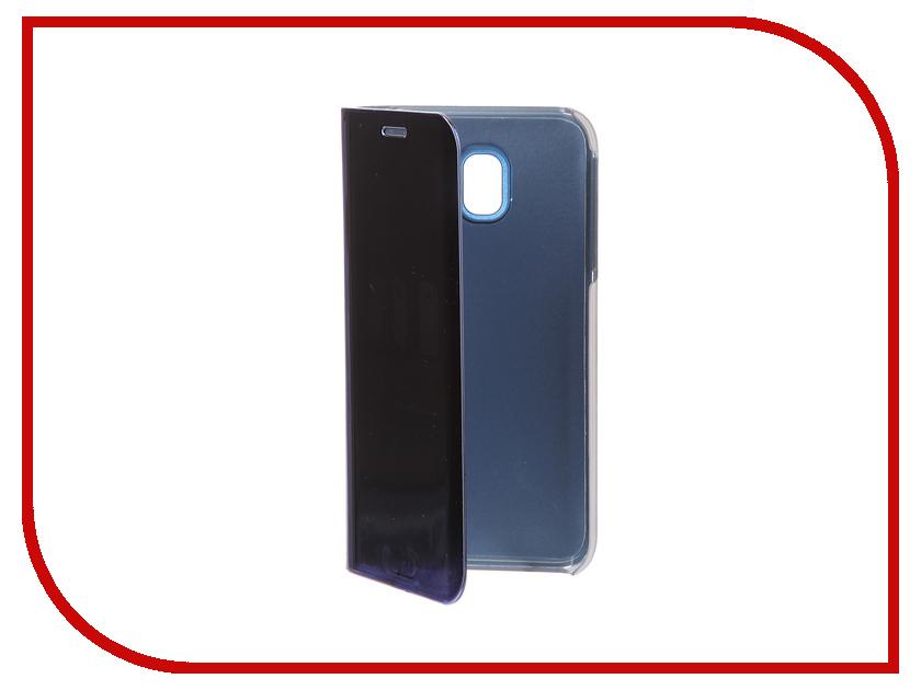 Фото Аксессуар Чехол Samsung J3 2017 J330F Zibelino Clear View Blue ZCV-SAM-J330-BLU аксессуар чехол samsung j3 2017 j330f zibelino clear view black zcv sam j330 blk