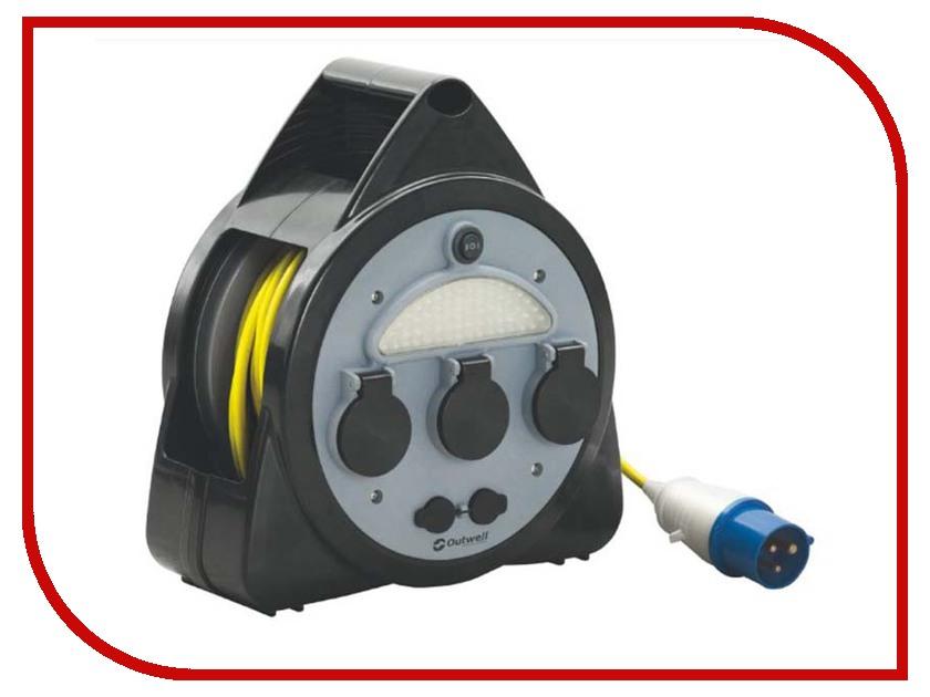 Удлинитель Outwell Mains 3way Roller Kit USB/light 15m 650296