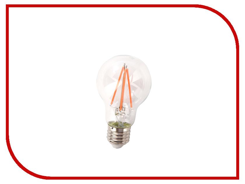 Светодиодная фитолампа Gauss LED Fito Filament A60 E27 6W 102802906 4w 6w 8w filament led bulb edison led filament bulb g125 big global light bulb e27 clear glass indoor lighting lamp ac220v