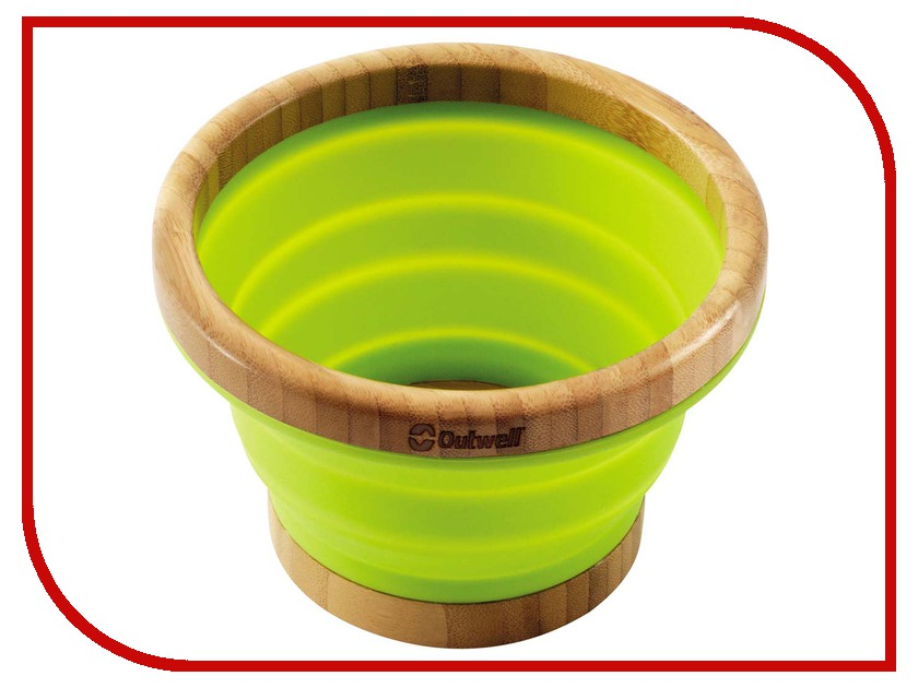 Миска Outwell Collaps Bamboo Bowl L Green 650357