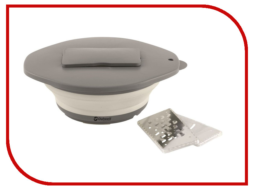 Миска Outwell Collaps Bowl & lid w/grater Cream White 650609 с теркой в крышке