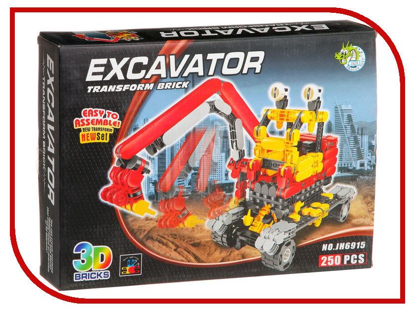 Конструктор Dragontoyz Страйп Экскаватор 250 дет. JH6915 конструктор lepin technician экскаватор 760 дет 20025
