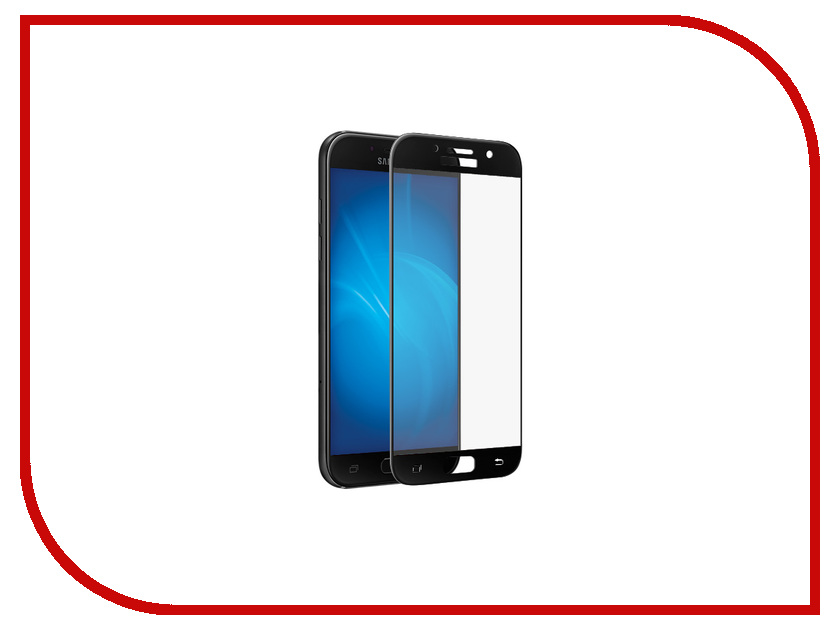 Аксессуар Стекло защитное Samsung Galaxy A3 2017 SM-A320F Krutoff Full Screen Black 02505 free shipping touch screen with lcd display glass panel f501407vb f501407vd for china clone s5 i9600 sm g900f g900 smartphone