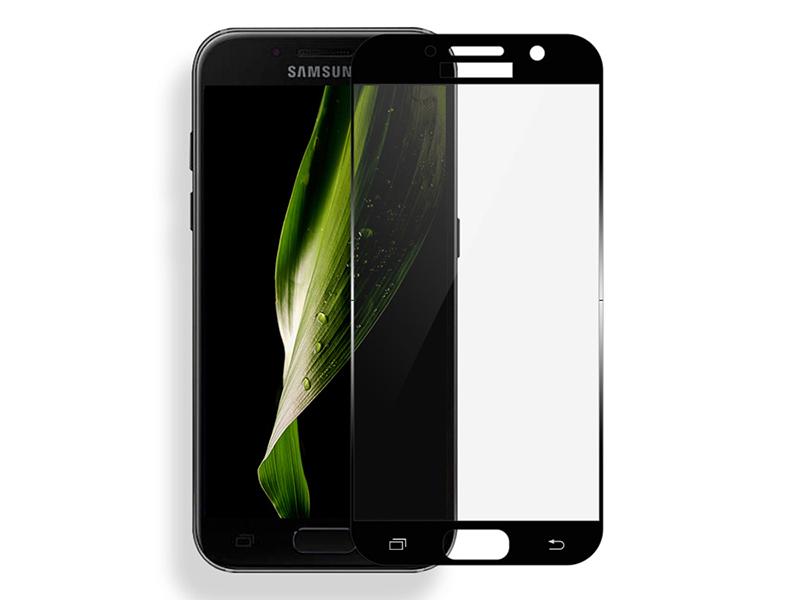 Аксессуар Стекло защитное Krutoff Full Screen для Samsung Galaxy A7 2017 SM-A720F Black 02509 чехол книжка флип g case slim premium [gg 797] для samsung galaxy a7 2017 sm a720f чёрный