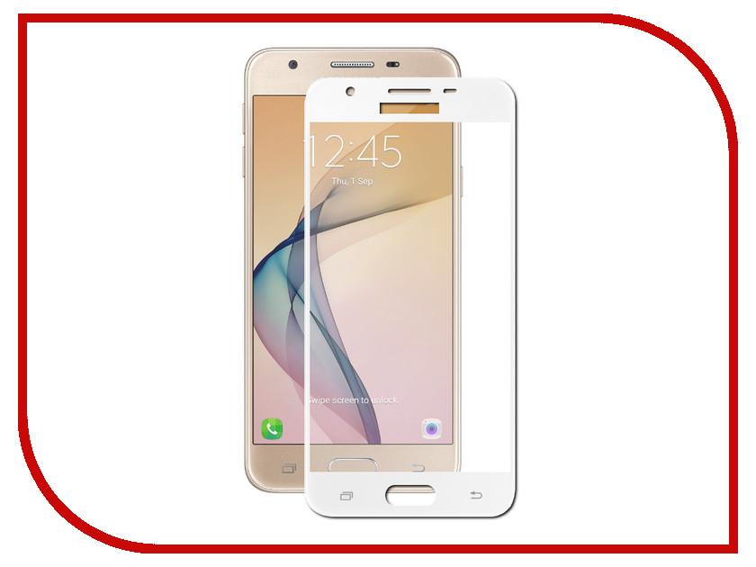 Аксессуар Стекло защитное Samsung Galaxy J5 Prime SM-G570F Krutoff Full Screen White 02518 аксессуар защитное стекло samsung galaxy j5 prime solomon full cover black
