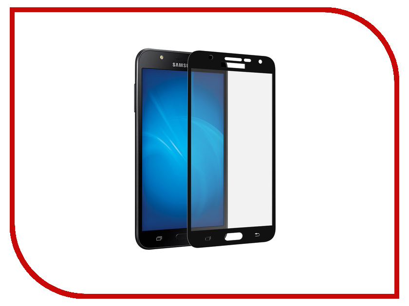 Аксессуар Стекло защитное Samsung Galaxy J7 Neo SM-G701F Krutoff Full Screen Black 02520 смартфон samsung galaxy j7 neo black sm j701f