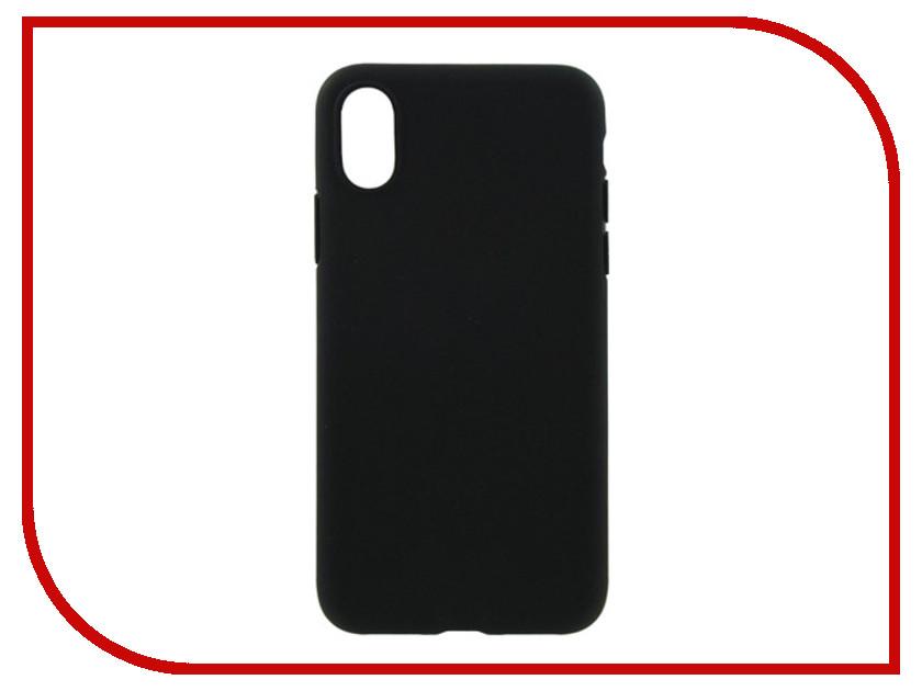 Аксессуар Накладка силиконовая Krutoff для Apple iPhone X Black 11926