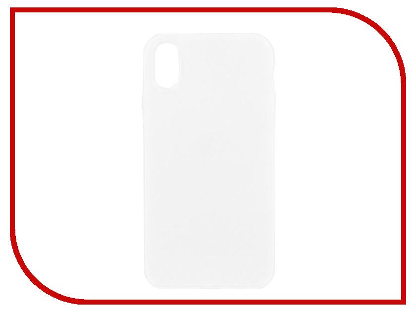 Аксессуар Накладка силиконовая Krutoff для Apple iPhone X White 11927 аксессуар защитное стекло krutoff front