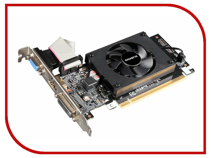 Видеокарта GigaByte GeForce GT 710 954Mhz PCI-E 2.0 2048Mb 1800Mhz 64 bit DVI HDMI HDCP GV-N710D3-2GL видеокарта gigabyte gv n710d5sl 2gl