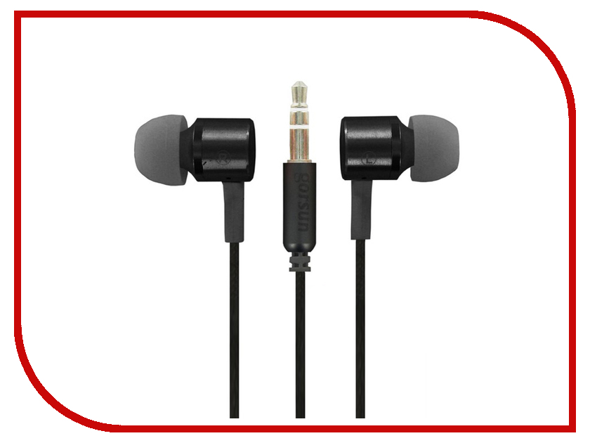 Gorsun GS-338 Black 9020 gorsun gs a356 universal 3 5mm jack wired in ear bass headset for cellphone black
