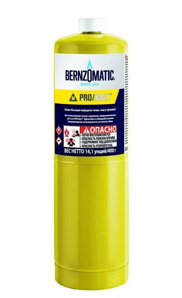 Газовый баллон BernzOmatic Pro Max 400g