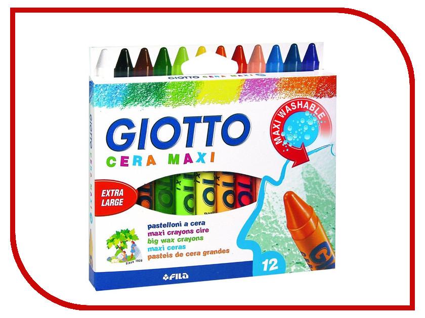 Восковые карандаши Giotto Cera Maxi 12 цветов 291200 карандаши восковые мелки пастель milan карандаши 213 12 цветов