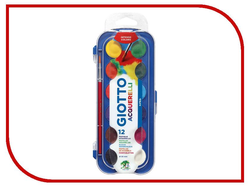 Набор Giotto Watercolors Сухая акварель в таблетках 12 цветов 351200