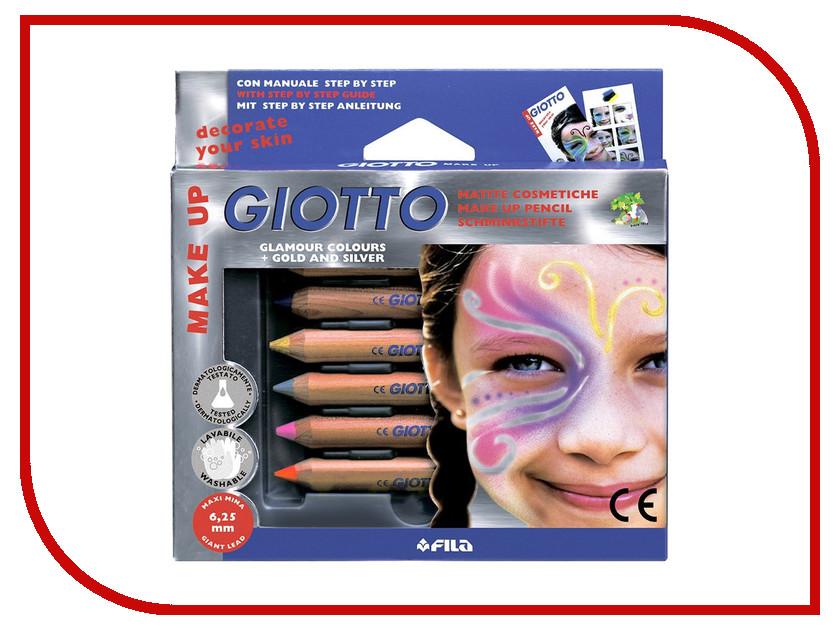 Набор Giotto Make Up Matite Glamour Набор карандашей для грима 6 цветов 470800 набор д творчества giotto make up classic набор д грима 6 классических цветов карандашей 470200