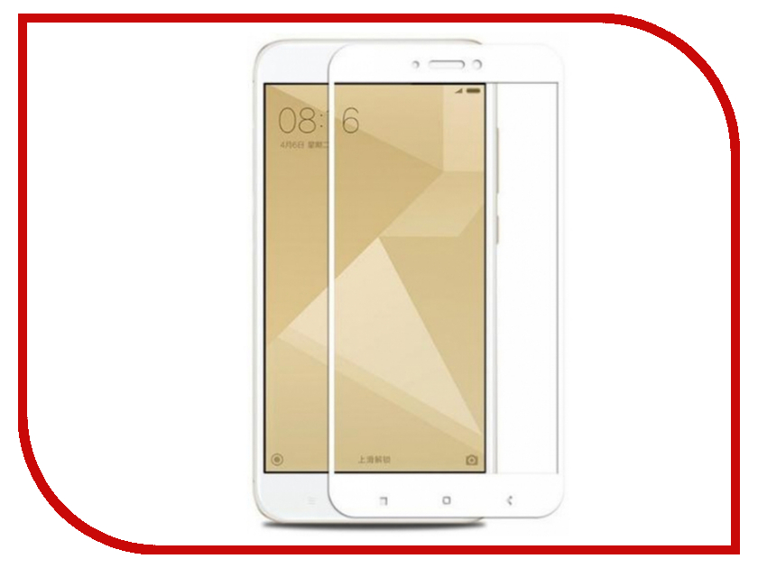 Аксессуар Стекло защитное для Xiaomi Redmi Note 4X Krutoff Full Screen White 02528 for xiaomi redmi note 2 lcd display touch screen tools 100