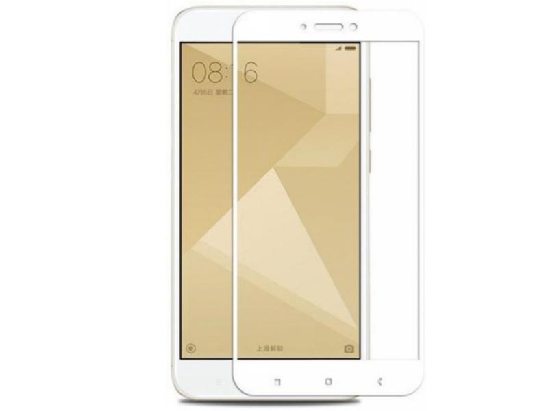 Стекло защитное Krutoff для Xiaomi Redmi Note 4X Full Screen White 02528