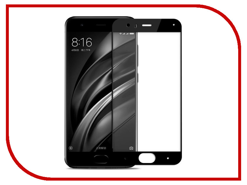Аксессуар Стекло защитное для Xiaomi Mi 6 Krutoff Full Screen Black 02534 for lenovo zuk z2 lcd screen display with touch screen digitizer panel glass assembly black white replacement parts free shipping