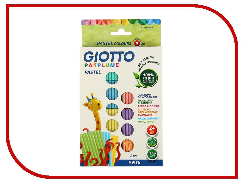 Набор для лепки Giotto Patplume Пластилин 8 цветов 513500 всё для лепки lori пластилин классика 16 цветов