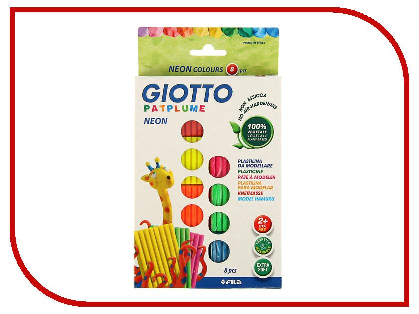 Набор для лепки Giotto Patplume Пластилин 8 цветов 513200 всё для лепки lori пластилин классика 16 цветов