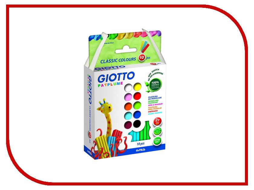 Набор для лепки Giotto Patplume Пластилин 10 цветов 512900 всё для лепки lori пластилин классика 16 цветов